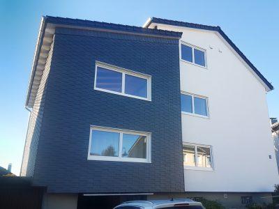 Fassadensanierung mit Holzwolledämmplatten und Teilweiser verschieferung 30x 20
